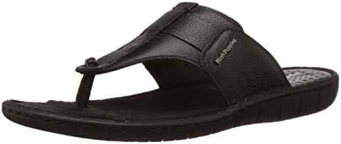 Hush Puppies Men's Sedan Thong Leather Flip Flops Thong Sandals