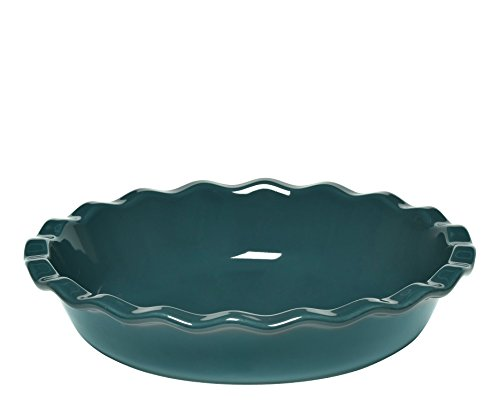 Emile Henry Made In France 9 inch Pie Dish, Blue Flame