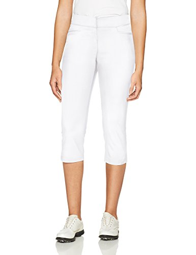 "PGA TOUR Women's Motionflux 26"" Tech Capris with Comfort Stretch, Bright White, 18"