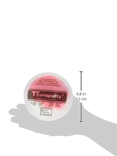 CanDo TheraPutty Standard Exercise Putty, 6 Piece Set (Tan, Yellow, Red, Green, Blue, Black), 4 oz by Cando (Image #9)