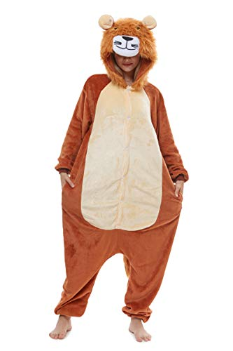 Yutown New Adult Animal Costume Onesie Unicorn Halloween Cosplay Pajama Zipper Lion -