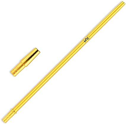 DUM Boquilla de aluminio para shisha Slim con adaptador de manguera de 40 cm, color dorado