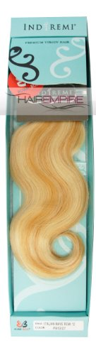 "ITALIAN WAVE REMI 12"" - BOBBI BOSS Indi Remi Premium Virgin Hair Weave Extensions #613/27"