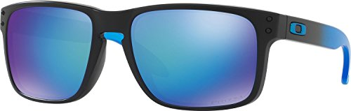 Oakley Men's Holbrook Polarized Iridium Square Sunglasses, Sapphire Fade w/Prizm Sapphire Polarized, 57 - Holbrook Prescription Lenses