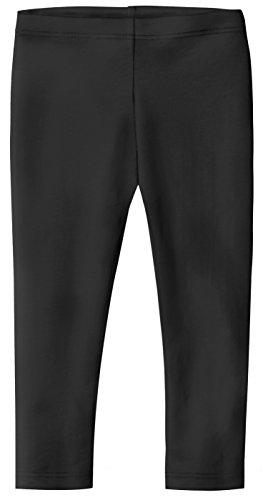 City Threads Big Girls' Cotton Cropped Capri Summer Legging For Play and School SPD For Sensitive Skin Sensory Friendly, Leggings Black 8 ()
