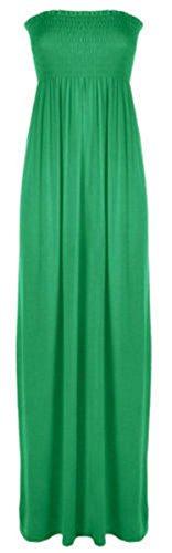 Eu Fin Manches Jade Neuf Pour 21fashion Robe Bandeau Poitrine Size16 22 Longue Sans Maxi Taille Femmes Vert Tw78S