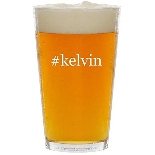 #kelvin - Glass Hashtag 16oz Beer Pint