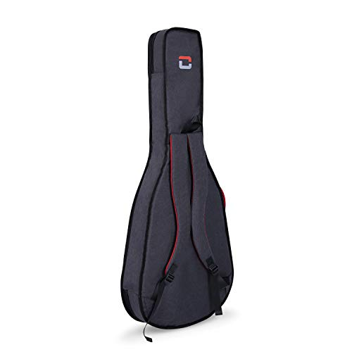 Crossrock CRSG107CTDG 3/4 Classical Guitar Bag, 10mm Padding, Backpack Available,Dark Grey