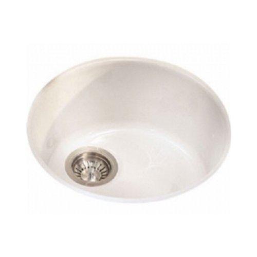 Franke LBK110BT Luna Fireclay Single Bowl Undermount Kitchen Sink, Biscuit