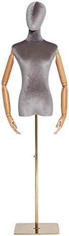 SGMYMXテーラーダミー リードデザイナーの服のファッションモデルのウェディングドレスを取るために仕立屋のマネキンのバストと腕 テーラーのダミー (Color : G)