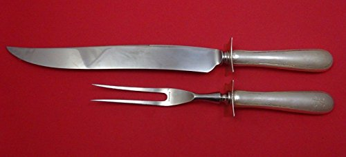 Feather Edge by Tuttle Sterling Silver Roast Carving Set Two Piece HHWS 14