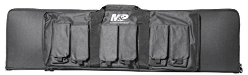 (Smith & Wesson M&P Pro Tac Padded Rifle Case with Ballistic Fabric Construction and External Pockets for Shooting, Range, Storage and Transport)