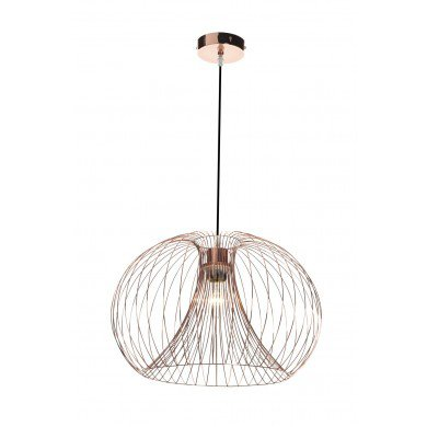 Contemporary modern copper wire ceiling pendant chandelier light ...