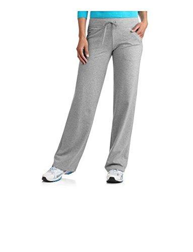Womens Dri More Relaxed Pants Petite Walk Yoga Fitness Activewear (M, Gray) (Danskin Capris)