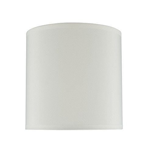 Creme Shade (Aspen Creative 31003 Transitional Hardback Drum (Cylinder) Shape Spider Construction Lamp Shade in Butter Crème, 8