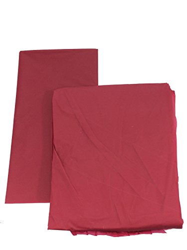 (Set of 6 Plastic Table Covers with 6 Table Skirts for Parties (Burgundy))