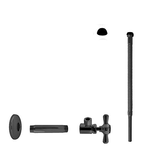 Oil Rubbed Bronze Pipe Nipple - Westbrass D103K12X-12 Supply Kit 1/2