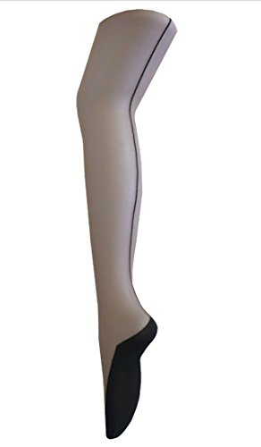 MinkBlack-Sheer-Sexy-Vintage-Burlesque-Seamed-Cuban-Heel-Dancing-Girl-Tights-One-Size