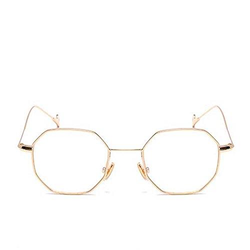 Dormery Clear Square Sunglasses Women Fashion Lady Vintage Metal Small Frame Plain Sun Glasses UV400 C10 (Leash 8 Plain)