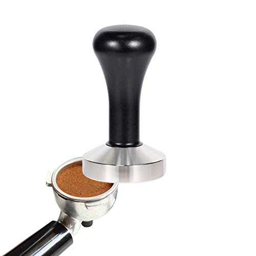 HOMEE Espresso Tamper 51mm, Barista Coffee Tampers, Stainless Steel Base Coffee Press Tool- Black
