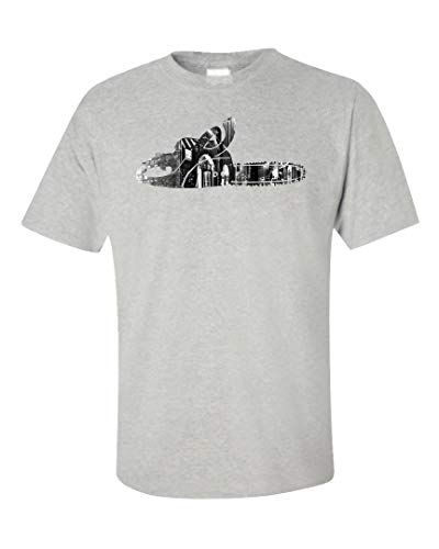 (Funny Chainsaw - Machinery Saw Blade - Gas Equipment Humor - Unisex T-Shirt Ash Grey)