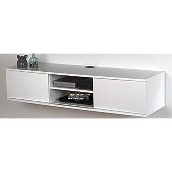 white media console furniture. South Shore Agora Wall Mounted Media Console, 56\ White Console Furniture