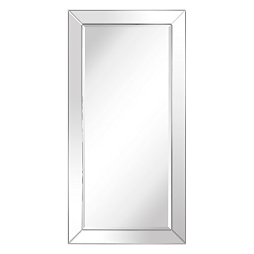 Empire Art Direct Rectangle Modern Leaner Beveled Mirror Panels Frame | | Bathroom, Bedroom, Vanity, Living Room | 80 in. x 40 in. Ready to Hang