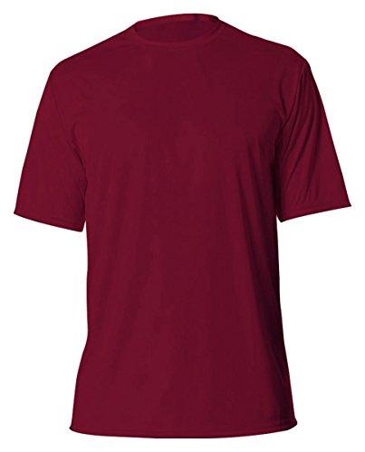 A4 Men's Cooling Performance Crew Short Sleeve T-Shirt, Cardinal, XX-Large