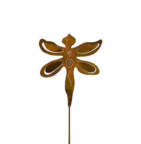 Dragonfly Rusty Metal Garden Stake