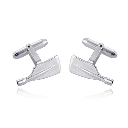 Rowing Oar Cufflinks - 925 Sterling Silver - Men Man Formal Cuff Links - Jewelry Accessories Key Chain Bracelets Crafting Bracelet Necklace Pendants