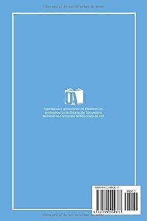 Agenda para Opos de Docentes: Agenda para Oposiciones de Maestros y Profesorado 2019/2020