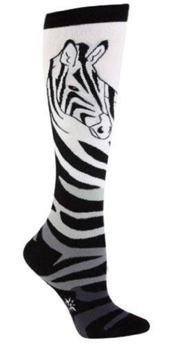 Zebra Knee Socks - 3
