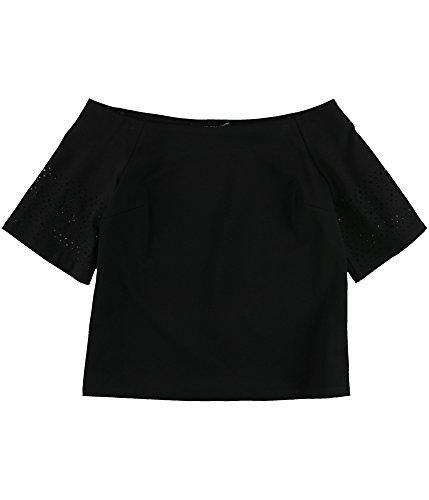 Laser Cut Blouse Black - Lauren by Ralph Lauren Womens Laser Cut Sleeve Blouse Black XL