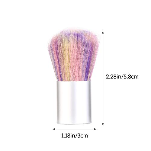 New! 2 Pack Soft Nail Art Dust Remover Brush Cleaner for Acrylic and Makeup Blush Brushes… (Multicolor 1PC)