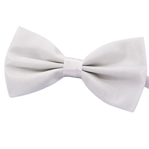 Amajiji Formal Dog Bow Ties for Medium & Large Dogs (D113 100% polyester) (white) ()