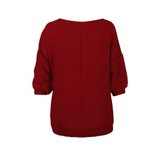 Transer Damen Pullover grau grau one size Rot i0qReE3
