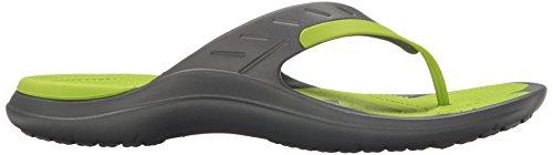 Crocs Unisex Modi Sport Flip Flop Graphit / Volt Grün