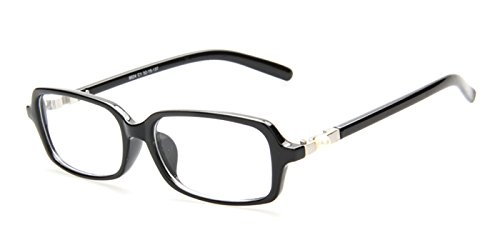 Slocyclub Nerd Horned Rectagle Plastic Frame Eyeglasses (Buy Prescription Glasses Online)