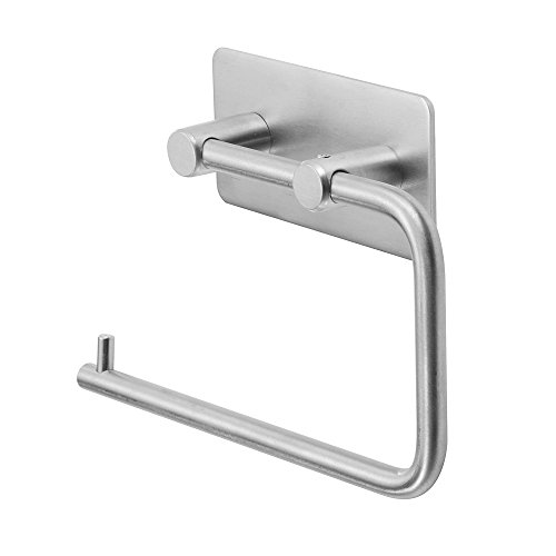 Bathroom Lavatory Toilet Paper Holder,3M Self Adhesive,No Drill, SUS 304 Stainless Steel Brushed Finish Stick On