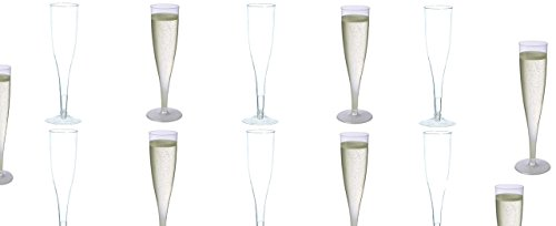 30 pc Clear Plastic Classicware Glass Like Champagne Wedding Parties Toasting Flutes (Plastic Toasting Flutes)