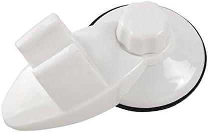 Duschkopf-Halterung mit starkem Saugnapf kein Bohren notwendig Hellgelb einstellbar 360 Grad drehbar