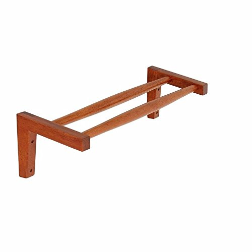 Hlluya Bathroom Accessory Set Punch-Free Wooden Suction Towel Rack Toilet Bathroom Wall Towel bar Bath Towel Racks Suction Wall, Solid Wood, Suction line, from The Punch, Brown, 60cm