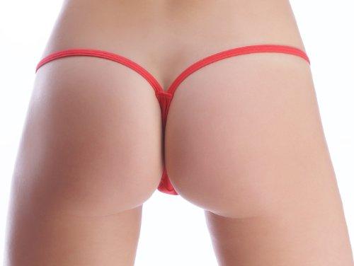 String Tanga Con Brillantes Serie Rojo