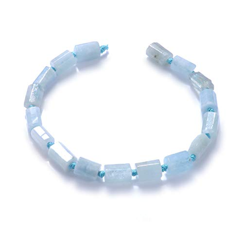 - Natural Stone Gemstone Irregular Loose Shape Stone Beads Jewelry with Stones for Jewelry Making Necklaces Bracelet DIY (Sapphire)