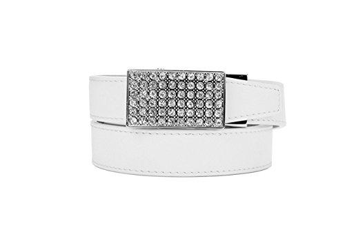 Nexbelt Golf Belt 2017 Womens Sleek Series Crystal White Cut to Fit up to (Ladies Golf Belts)