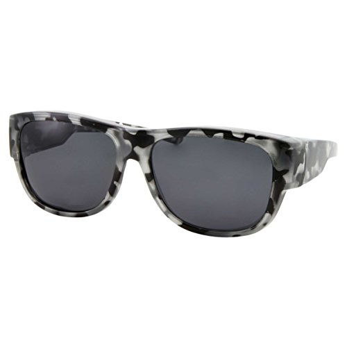Women Polarized Fit Over Sunglasses - Less Bulky, Ladies Size (Tortoise Gray)