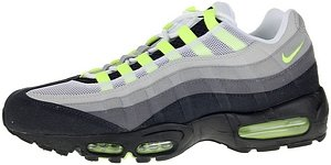 Max Air Shox (NIKE AIR MAX 95 MENS 609048-072 (9, COOL GREY/NEON YELLOW)