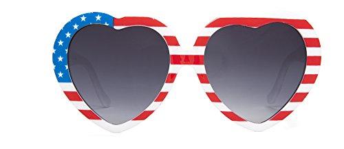 Lolita Heart Shaped Patriotic America - Glasses America