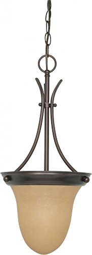 Nuvo 60/1278 Pendant Bell With Champagne Glass, Mahogany Bronze