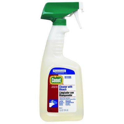 RTU Cleaner with Bleach Liquid Trigger Spray Bottle (Comet Cleaner Red)